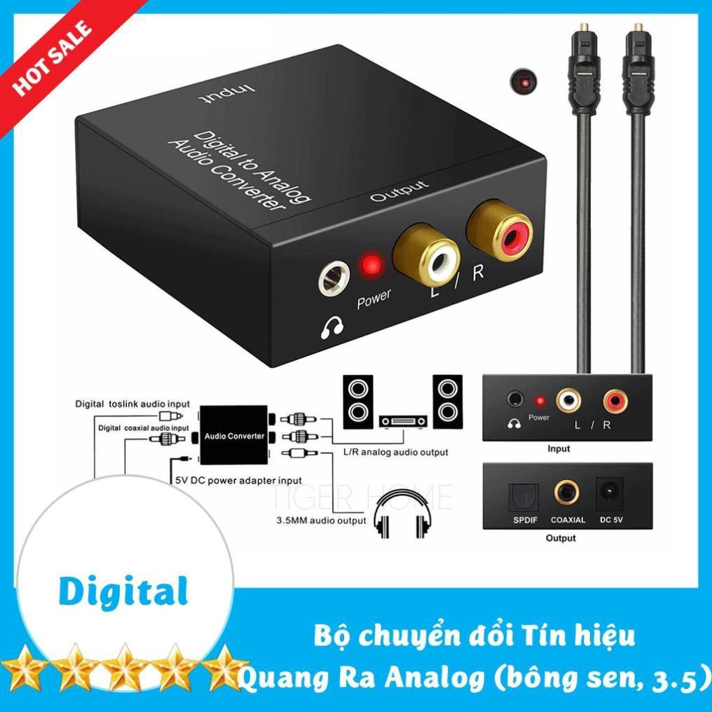 Bộ chuyển đổi Cổng quang Optical sang Audio AV - R/L, Cổng 3,5 Hỗ Trợ Tv 4k Loại Xịn Model 2020 196-96kb