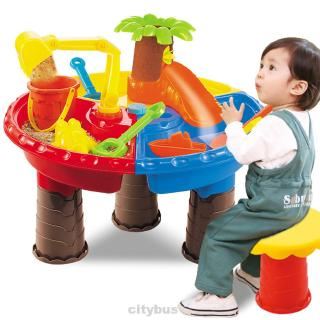 Bucket Digging Pit Kids Outdoor Sand Table Sandglass Play Seaside Summer Water Beach Toy Set