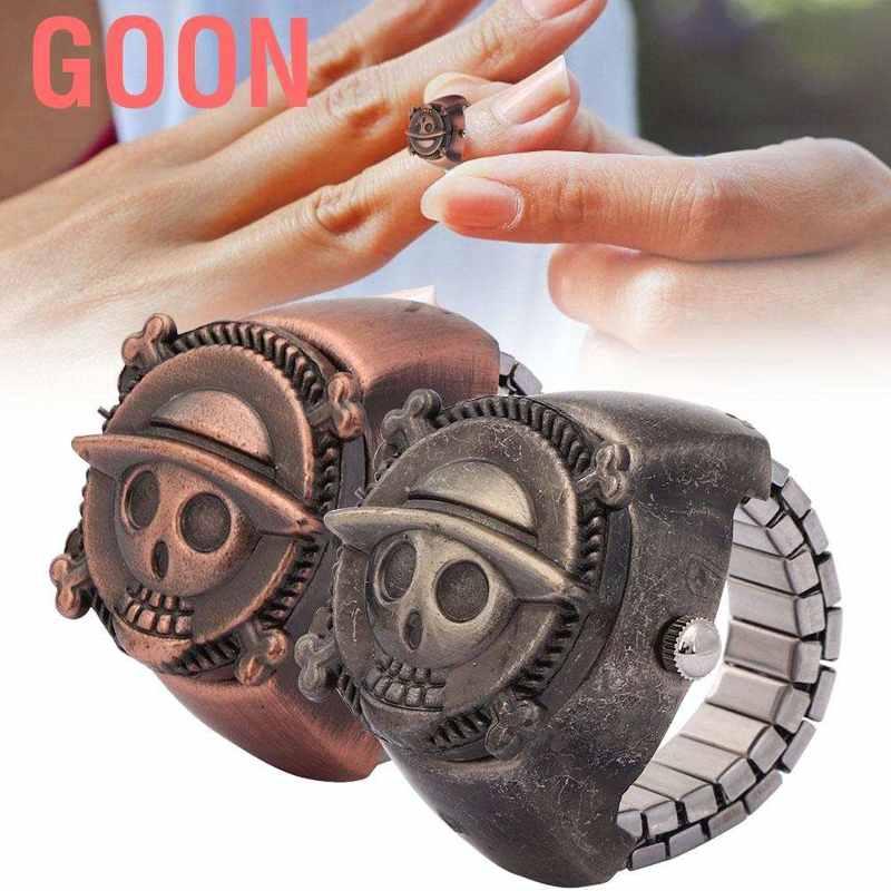 Đồng hồ kim vỏ khắc họa tiết hoạt hình thời trang unisex cho học sinh GOON