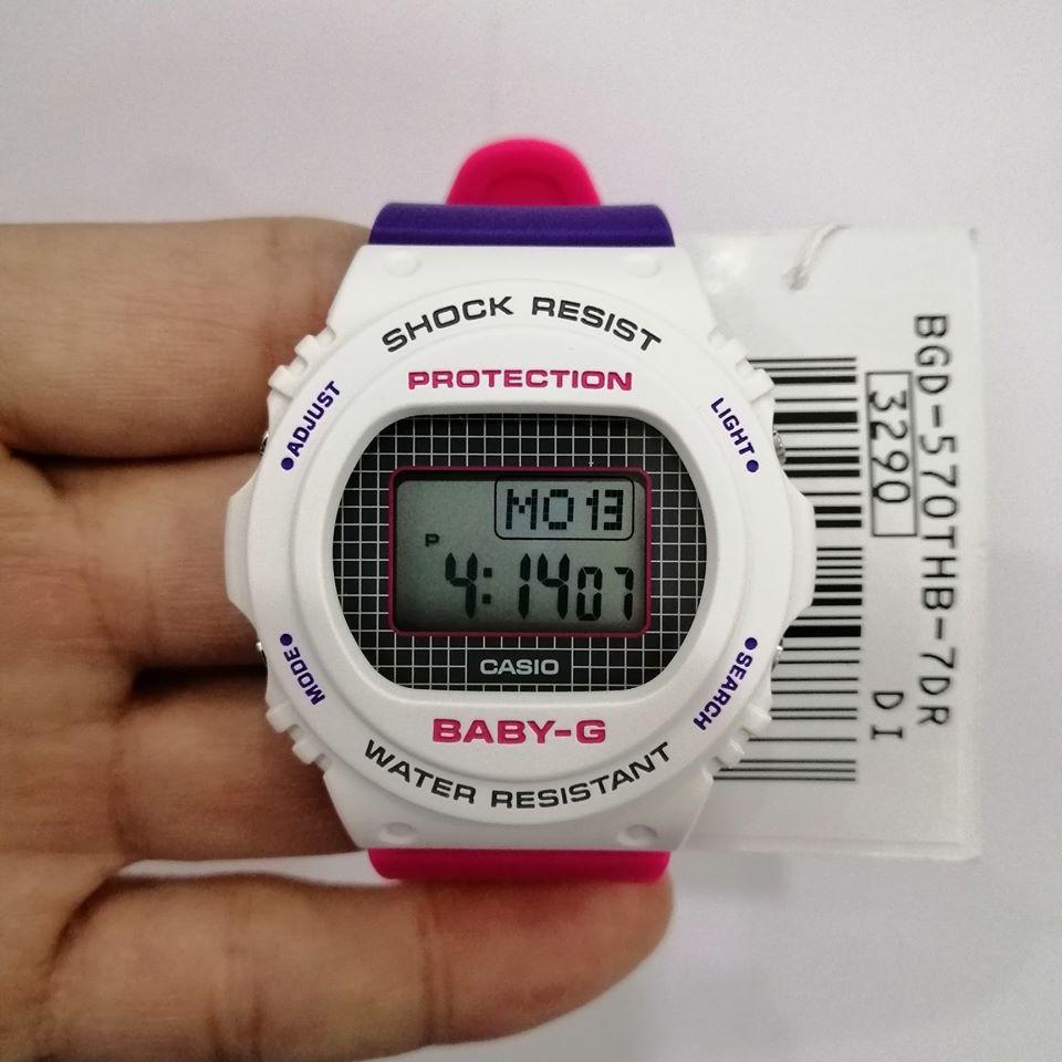 Đồng Hồ Nữ Casio Baby-G BGD-570THB-7DR Chính Hãng - Dây Nhựa | Baby-G BGD-570THB-7D