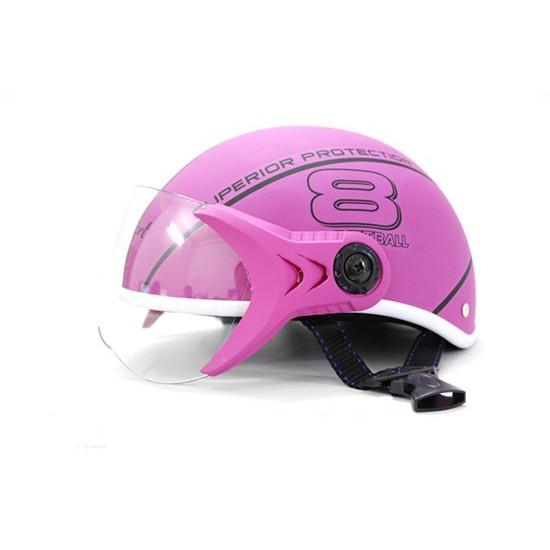 THANH LÝ Mũ bảo hiểm Sport Superior có kính màu hồng