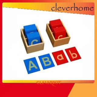 [hot] Bộ chữ cái nhám – #Giáo cụ Montessori