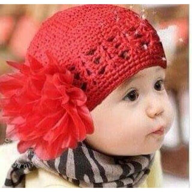 Mũ len lưới cho bé
