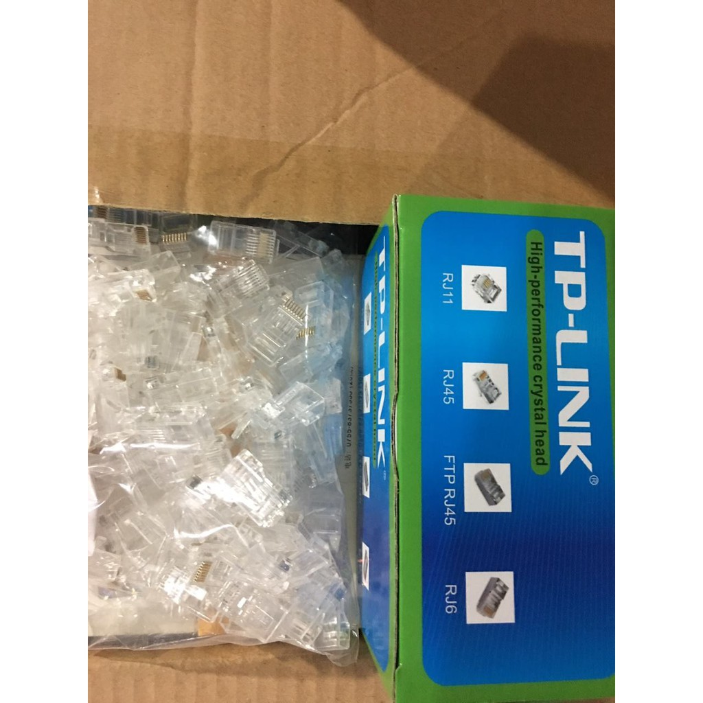 hạt bấm mạng tenda , TPlink( hộp100 hạt)