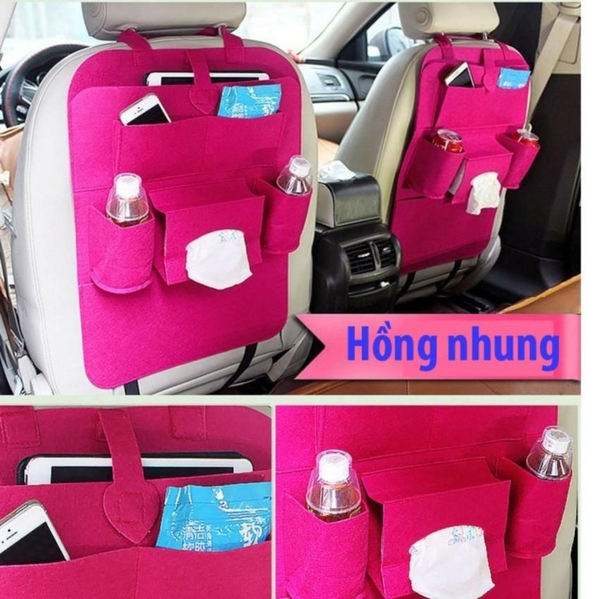 Túi đựng đồ treo ghế sau xe ô tô PHauto-TĐĐ01 ( Hồng Nhung)