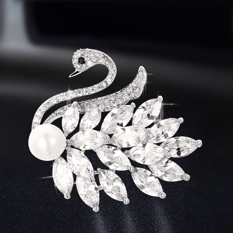 ☃◊✈Brooches corsage pin Korea luxury clothing decoration ideas joker imitation pearl atmosphere female accessories