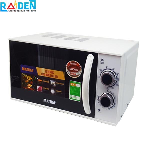 Lò vi sóng 20L Matika MTK-9220 có 3 chức năng: Nướng, hâm nóng, rã đông thức ăn tự cài đặt theo trọng lượng