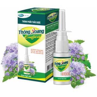 Xịt thông xoang Eugica - Giúp giảm xoang, mũi - từ cây hoa Ngũ sắc và muối Natri - Chính hãng thumbnail