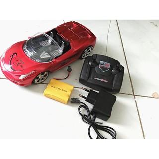 Xe điều khiển từ xa ô tô đua mui trần có pin sạc đầy đủ