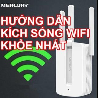 [Mã ELFLASH1 hoàn 10K xu đơn 20K] Bộ kích sóng wifi 3 râu Mercury cực mạnh