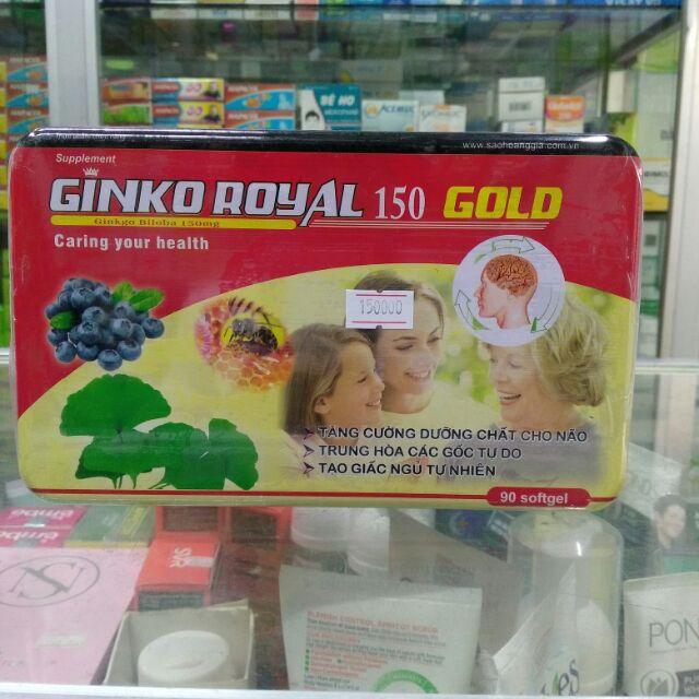GINKO ROYAL 150 GOLD giúp bổ não, ngủ ngon, bồi bổ cơ thể hiệu quả giá sỉ - 2643772 , 769799312 , 322_769799312 , 150000 , GINKO-ROYAL-150-GOLD-giup-bo-nao-ngu-ngon-boi-bo-co-the-hieu-qua-gia-si-322_769799312 , shopee.vn , GINKO ROYAL 150 GOLD giúp bổ não, ngủ ngon, bồi bổ cơ thể hiệu quả giá sỉ