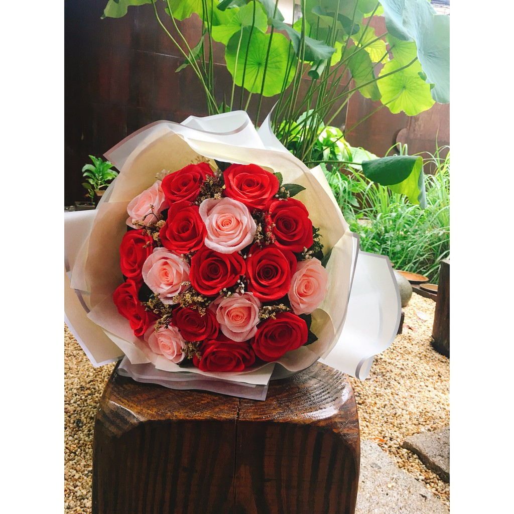 Bó hoa hồng to - hoa giấy Bó hô hồng to
