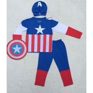 Bộ quần áo dài tay captain america kèm khiên và mũ tatsieure.com - 2513799 , 131936155 , 322_131936155 , 200000 , Bo-quan-ao-dai-tay-captain-america-kem-khien-va-mu-tatsieure.com-322_131936155 , shopee.vn , Bộ quần áo dài tay captain america kèm khiên và mũ tatsieure.com