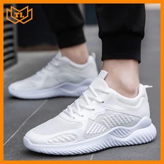 [Mã FASHIONRNK giảm 10K đơn 50K] Giày sneaker nam full trắng cực đẹp TL557 Shop Thành Long chuyên giày sneaker thumbnail