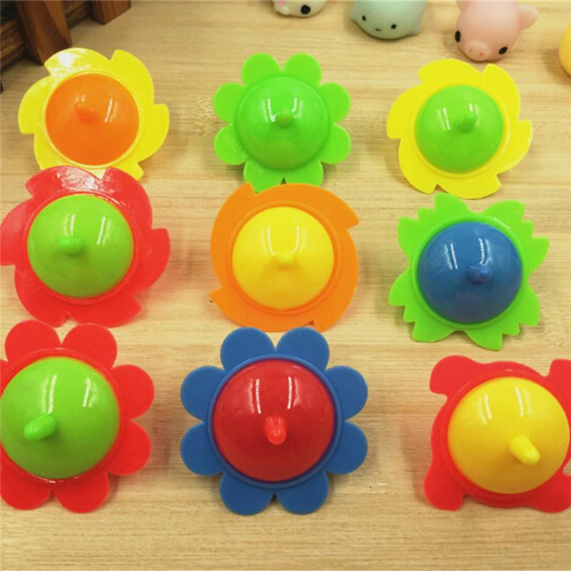 5pcs Sunflower Pegasus Mini Top Spinning Kindergarten Fidget Gyro Toys