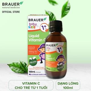 Siro Brauer Baby Kids Liquid Vitamin C cho trẻ từ 1 tuổi trở lên