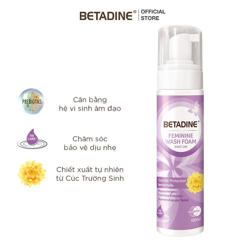 Hình ảnh [GIẢM CÒN 99K - NHẬP MUNDI30H] Bộ 2 bọt vệ sinh phụ nữ Betadine (Tím và Xanh) 100ml/chai-3