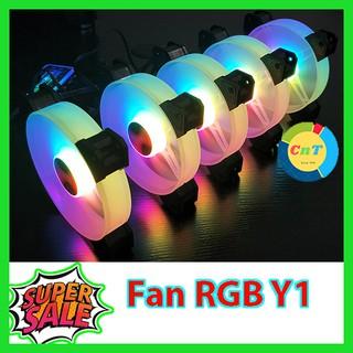 Yêu Thích+[Mã ELFLASH1 hoàn 10K xu đơn 20K] Fan RGB Coolmoon Y1 - Quạt Tản Nhiệt Máy Tính