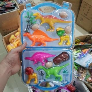 Vỉ đồ chơi vali khủng long dành cho bé