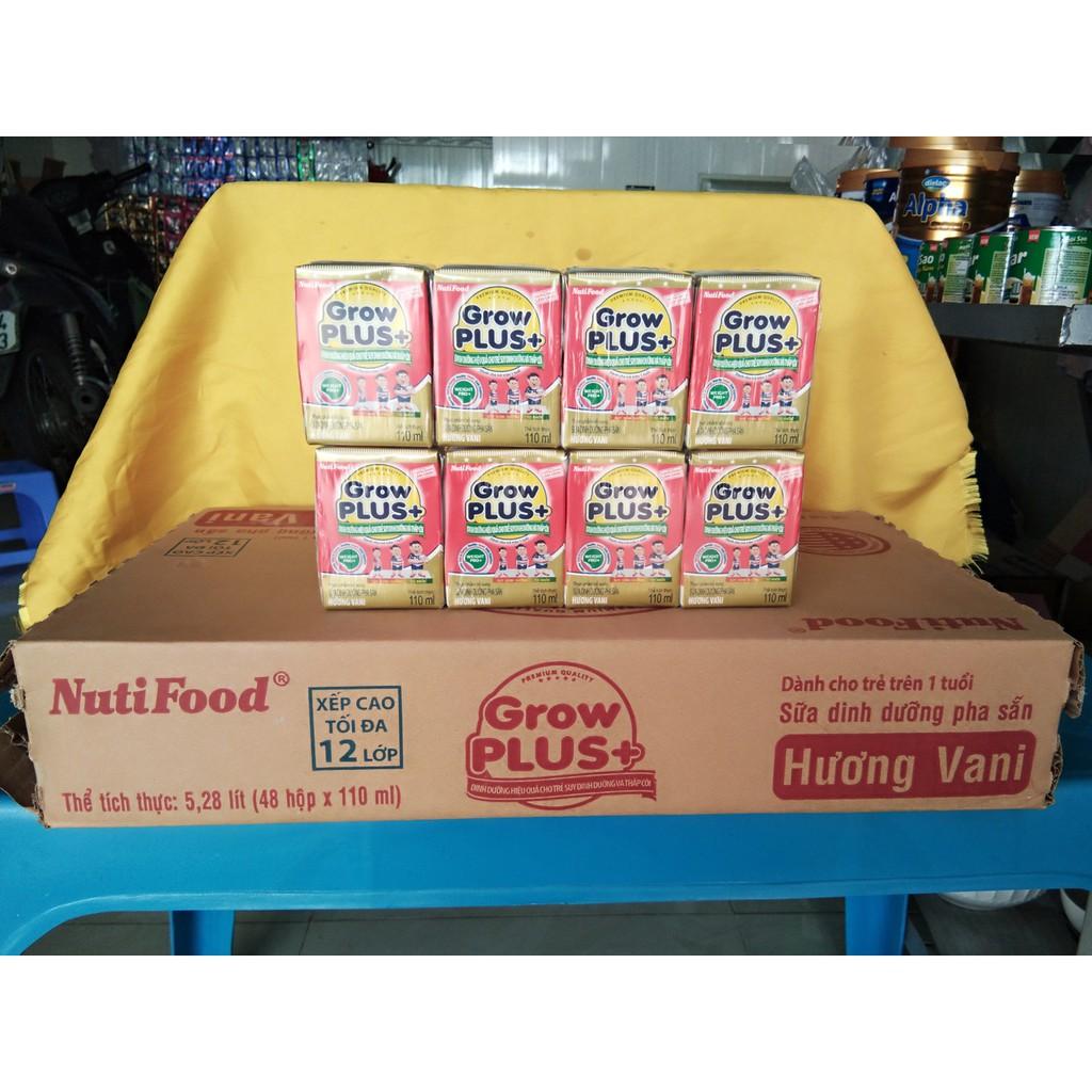 Sữa bột pha sẵn Nuti Grow Plus đỏ 110ml (Thùng 48 hộp)
