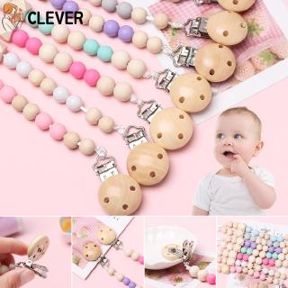CLEVER 1PC Infant Non-toxic Chew Toys Soother Anti-Drop Rope Pacifier Chain