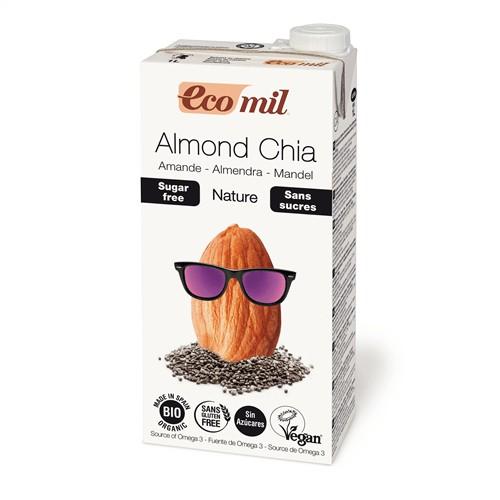Sữa hạnh nhân, hạt chia hữu cơ không đường Ecomil 1L