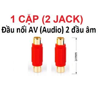 Combo 2 Đầu nối cáp loa AV/Audio (bông sen) 2 đầu âm