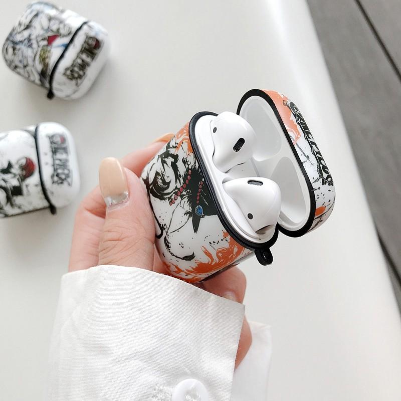 Vỏ Bảo Vệ Hộp Sạc Tai Nghe Airpods 1 / 2 / Pro Bằng Tpu Mềm Hình Luffy One Piece Kèm Móc Treo