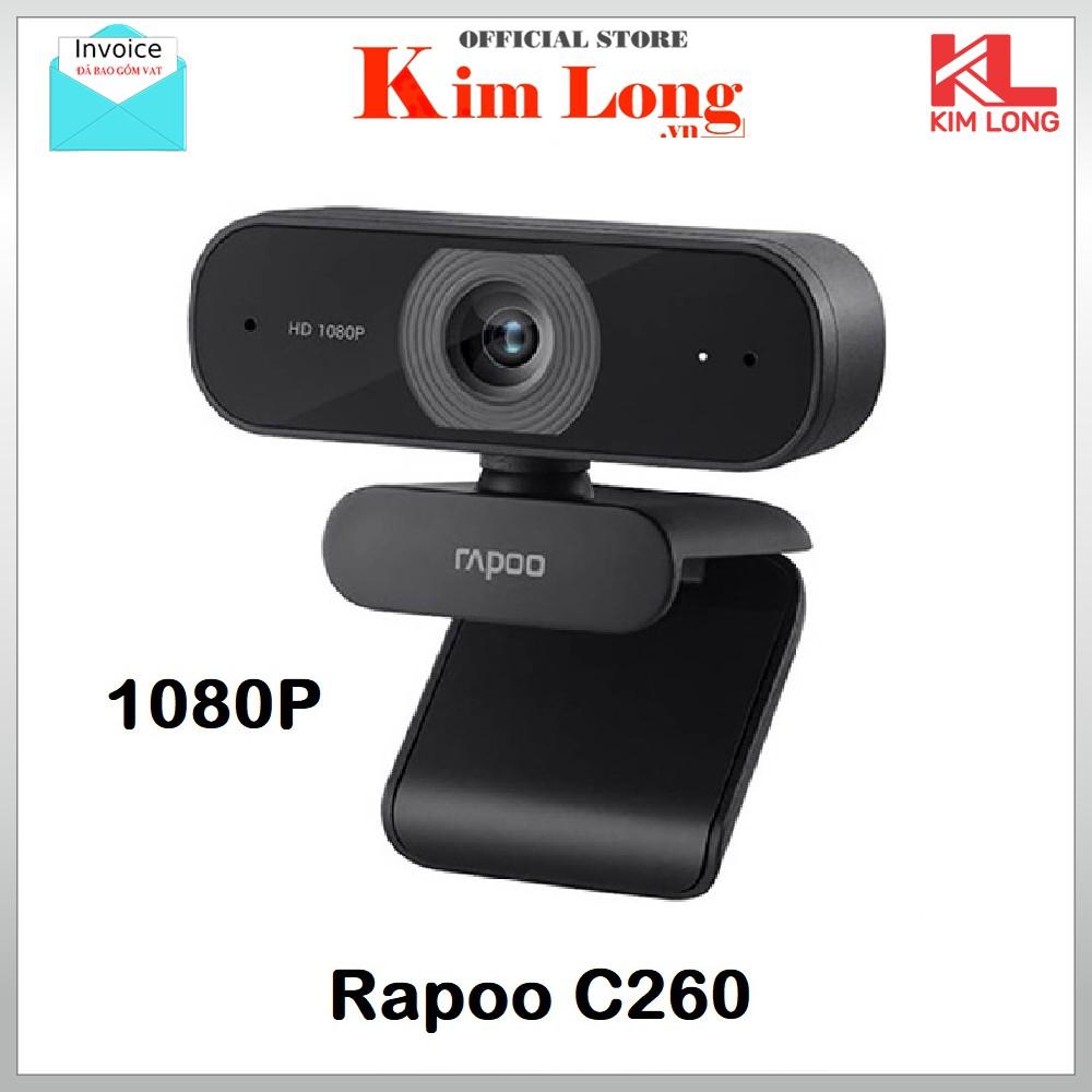 [Mã ELMSBC giảm 8% đơn 300K] Webcam Rapoo C260 FullHD 1080p - Bảo hành chính hãng 24 Tháng