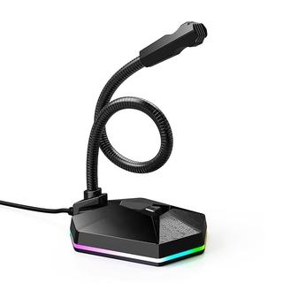 Micrô điện dung trên máy tính để bàn Micrô máy tính chống ồn USB với ánh sáng RGB để phát trực tiếp trò chơi thumbnail