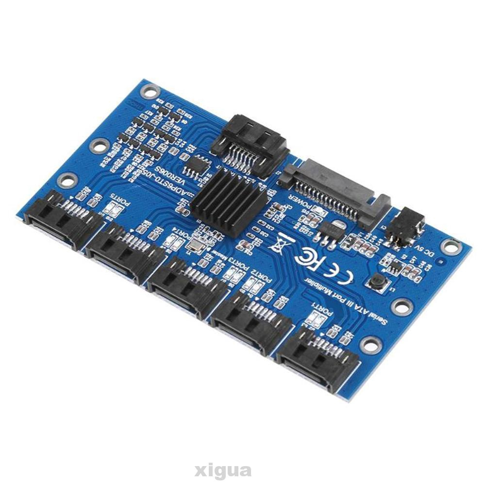 Accessories Desktop PC Motherboard 1 To 5 Port 6Gbps Multiplier SATA3.0 Expansion Card
