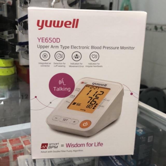 Máy Đo Huyết Áp có giọng nói Tiếng Việt Yuwell YE650D - Bảo hành 5 năm chính hãng