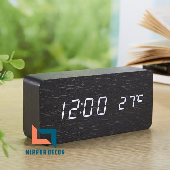 Combo 50 đồng hồ gỗ led để bàn