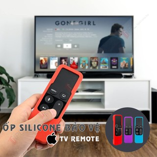 Ốp Silicone Bảo Vệ Remote Apple TV Chống Va Đập Trầy Sước Dành Cho Apple TV Gen 4   Gen 5
