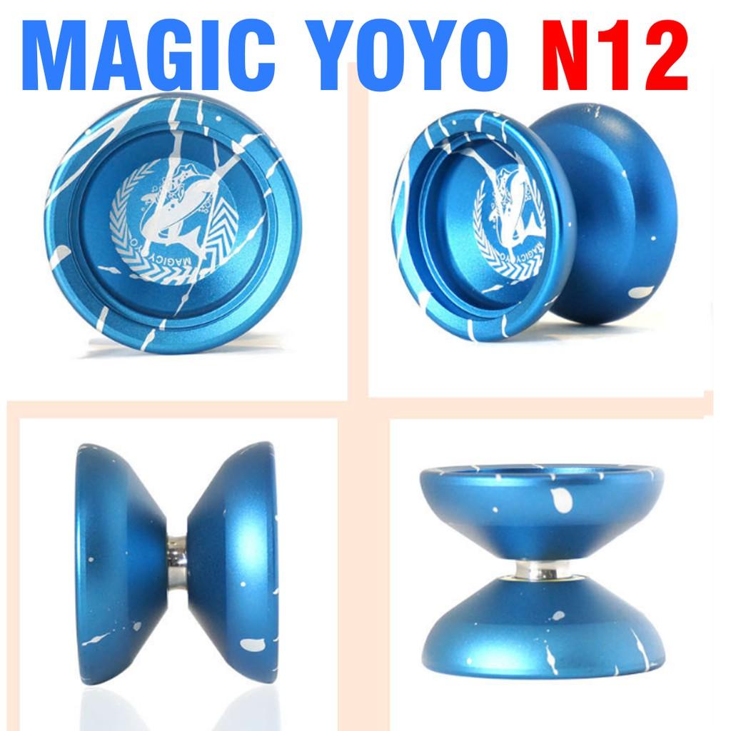 Yoyo magic N12 đồ chơi trẻ em bằng kim loại cao cấp màu xanh kèm túi đựng
