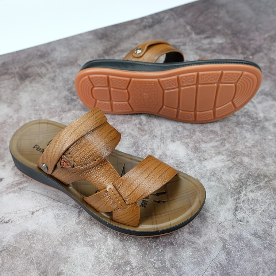 Giày Lười Nam da bò cao cấp đế cao su cực êm cực bền chính hãng Fu Khang GL101D