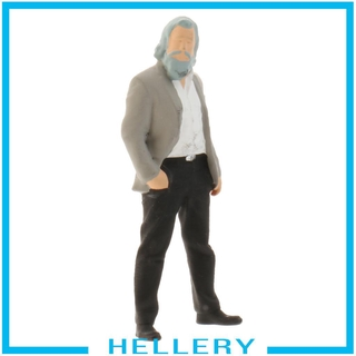 [HELLERY] 1:64 Tiny Figure Men People Building Scenario for Matchbox Group Decor