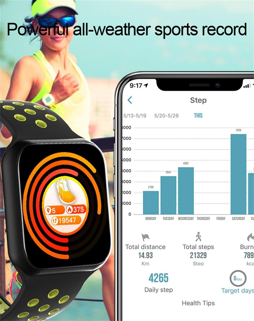 Đồng Hồ Thông Minh 42mm Kết Nối Bluetooth Có Chức Năng Đo Nhịp Tim Kèm Phụ Kiện