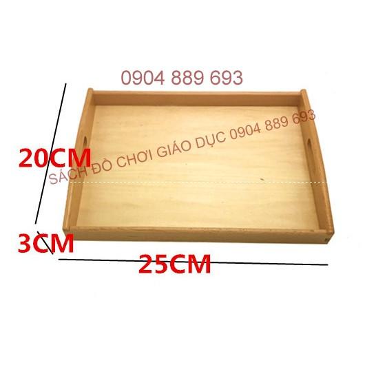 Khay đựng đồ Montessori cỡ nhỏ, kích thước 25x20x3cm - 2639580 , 639485065 , 322_639485065 , 165000 , Khay-dung-do-Montessori-co-nho-kich-thuoc-25x20x3cm-322_639485065 , shopee.vn , Khay đựng đồ Montessori cỡ nhỏ, kích thước 25x20x3cm
