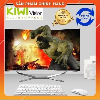 Bộ máy tính All in One Kiwivision – Màn hình cong 24″ full view, CPU Intel Pentium G-2020 Tặng Webcam học online
