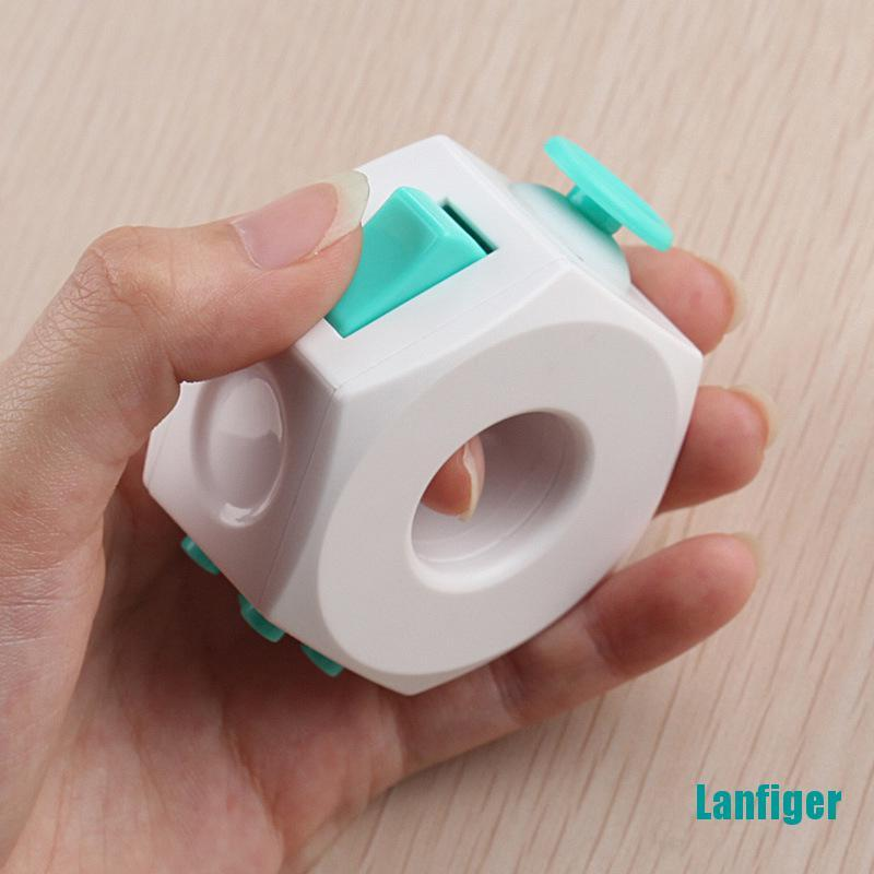 【Lanfiger】Decompression Cube Toy Anti Stress Anxiety Relief For Kids Adults Accessories