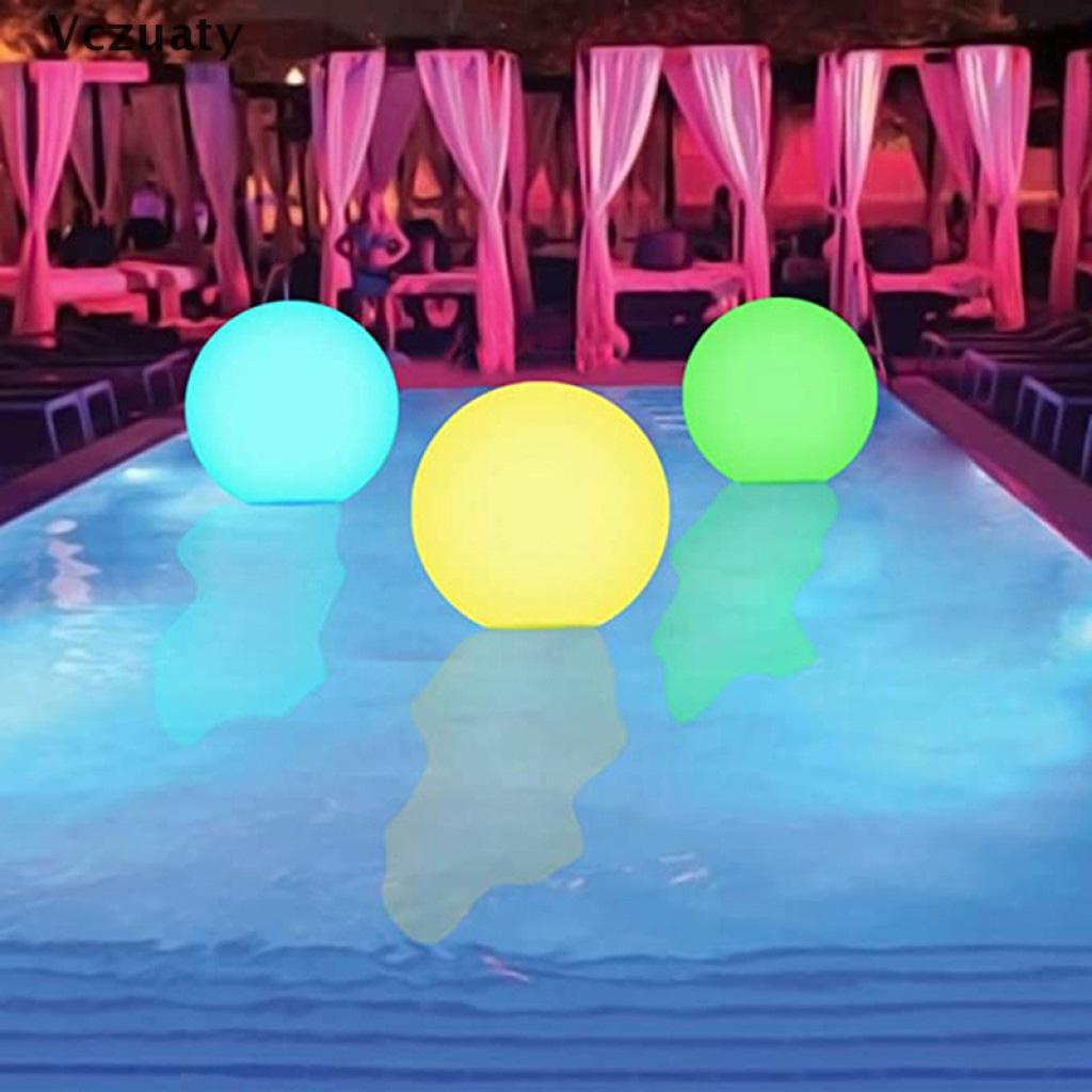 Vczuaty Glowing Beach Ball Remote Control Led Light Swimming Toy Glowing Ball Inflatable VN
