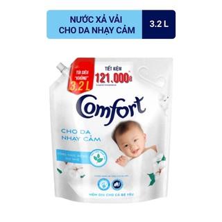 Nước xả vải comfort cho da nhạy cảm tui 3,2l