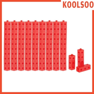 [KOOLSOO] Math Cubes – Set of 100 – Linking Cubes for Early Maths – Connecting Manipulative Block Creative Intelligence Kindergarden Toy