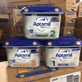 Sữa Aptamil bạc 800g Anh đủ số 1-2-3