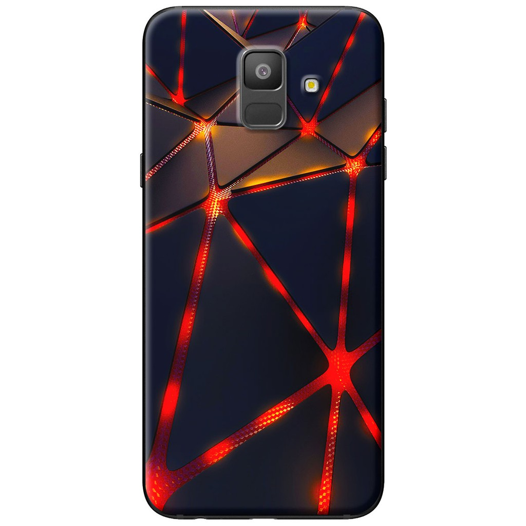 Ốp lưng nhựa dẻo Samsung A6 2018, A6 Plus Tam giác đỏ đen
