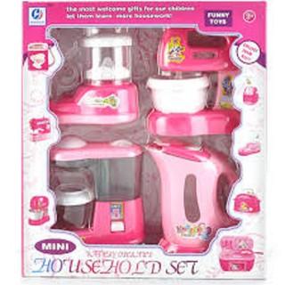 Đồ chơi đồ dùng gia đinh, đồ chơi nhà bếp có đèn nhạc (kèm pin)