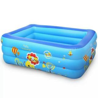 Bể Bơi 3 Tầng 3 Khoang Khí Riêng Biệt Cho Bé(130x92x52 Cm) _88 giá tốt
