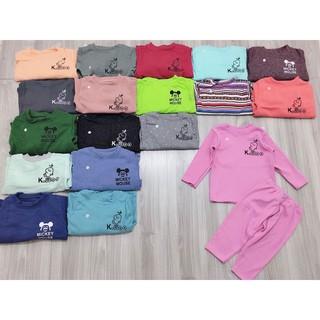 (XẢ HÀNG KHÔNG CHỌN MẪU) Bộ dài tay len , cotton cho bé trai và bé gái 1y-5y (8-20kg) thumbnail