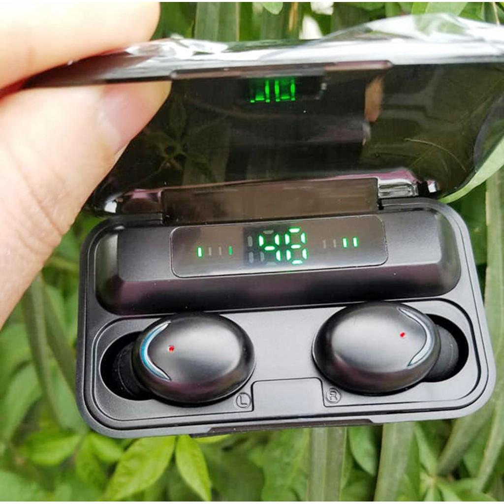 Tai Nghe Bluetooth Amoi F9 Pro Bản Quốc Tế Cao Cấp, Cảm Biến Vân Tay, Sạc  Dự Phòng - Amoi F9 Pro Max chính hãng 165,000đ
